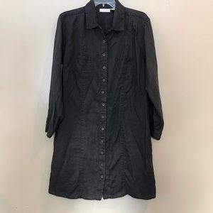 J.Jill Linen Button Down Shirt Dress Size Medium